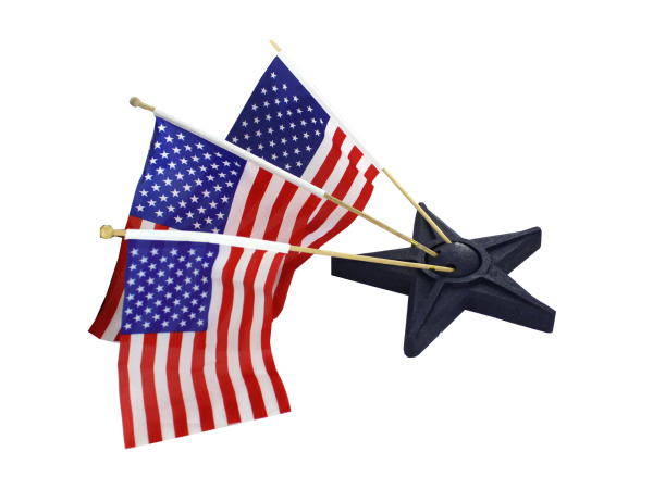 Resin star flag holder