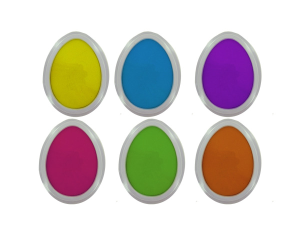 Easter egg stamp pads, set of 6