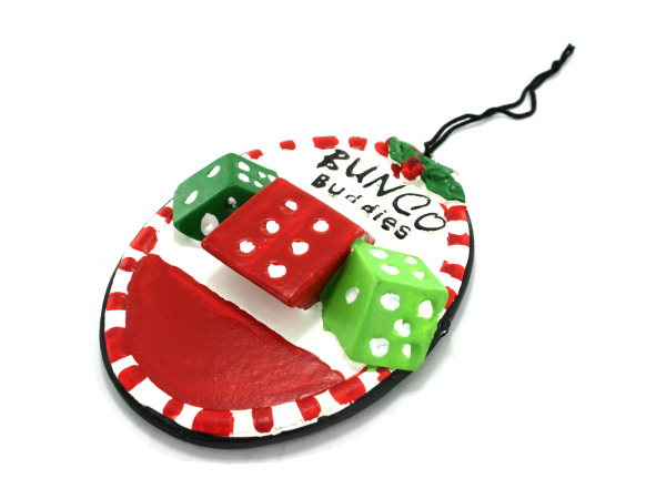 """Bunco Buddies"" ornament"