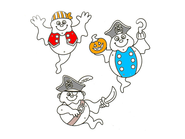 Color Your Own! Ghost Pirate Jointed Characters