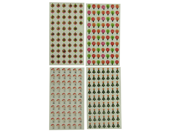 4 sheet holiday epoxy bubble stickers assorted designs