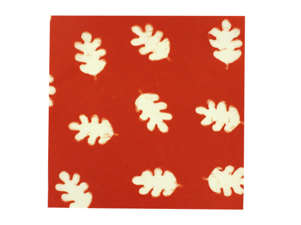 Oak leaves watermark paper, pack of 6 pages