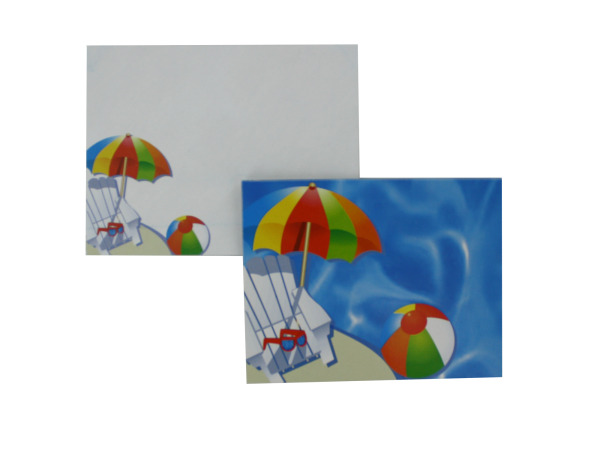 Pool party notecards with envelopes, pack of 12