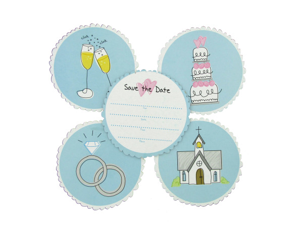 Wedding Save-The-Date Coasters