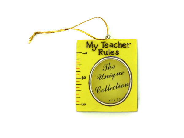 Student or teacher frame ornaments, assorted styles