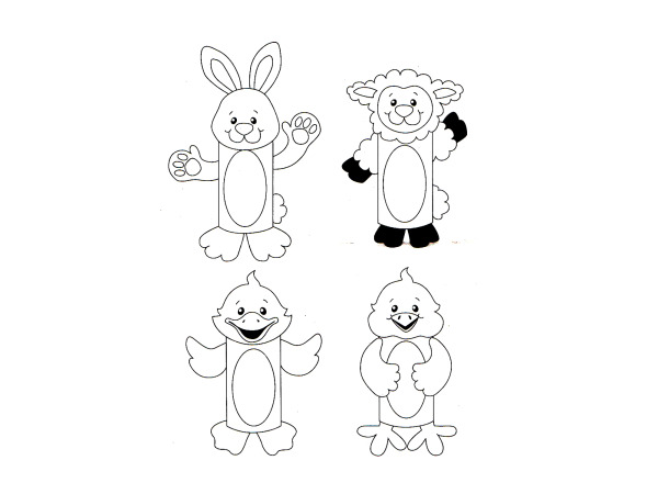Design Your Own! Easter Paper Roll Characters