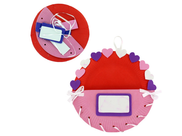 Paper Plate Valentine Holder Craft Kit