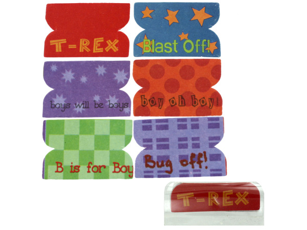 72 Little Boy Plastic Index Tabs