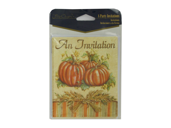 Harvest invitations, pack of 8