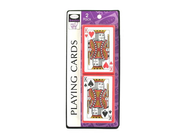 Plastic-coated playing cards, pack of 2 sets