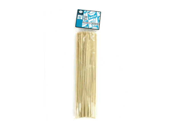 Bamboo skewers for barbecue or food, pack of 100