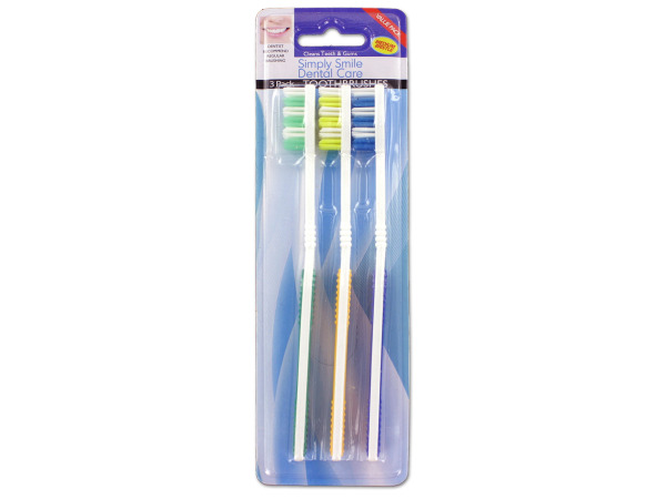 Rubber Grip Toothbrushes