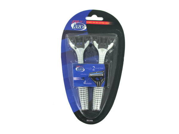 Mens quadruple blade disposable razors