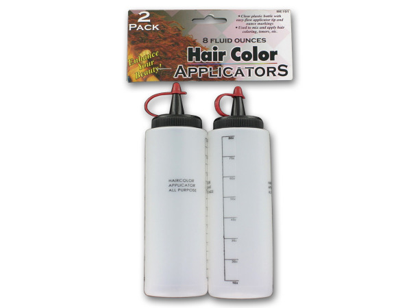 Hair color applicators