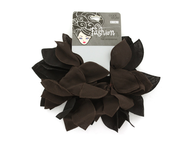 2-pack black and brown hair bands.