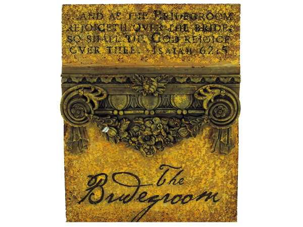bridegroom plaque