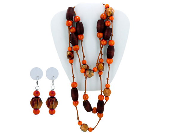 beaded necklace/earring