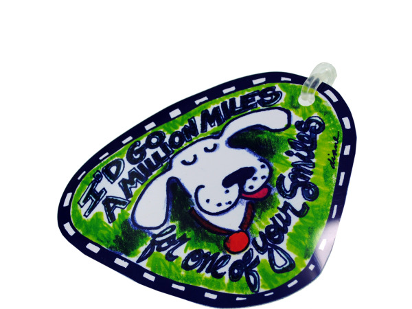 million miles luggage tag