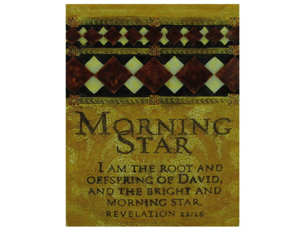 morning star plaque