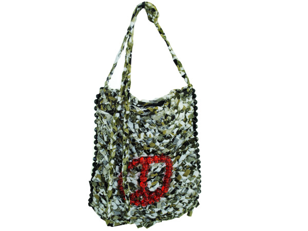 Handmade Camouflage Cross- Body Purse