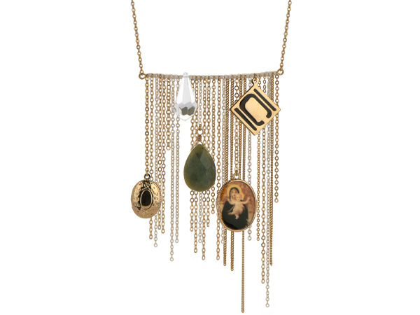 Authentic Nikki Chu Gold Tone Opera Length Tassle Necklace