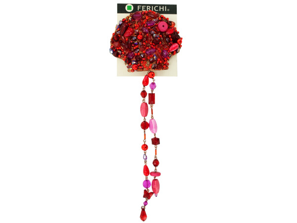 hair comb with assorted beads