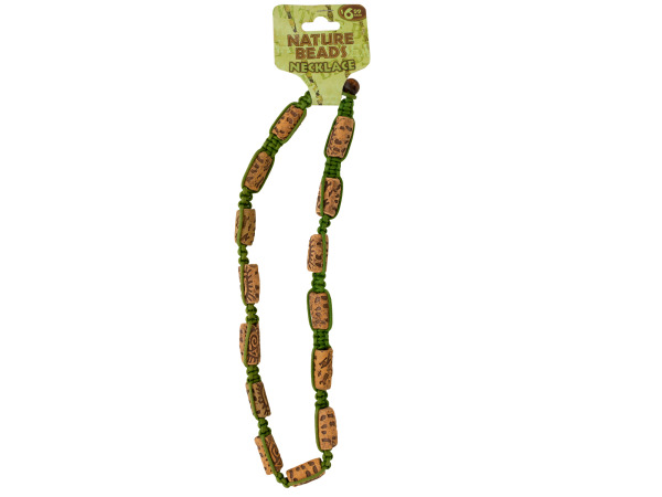 Nature Beads Ceramic Beaded Macrame Necklace