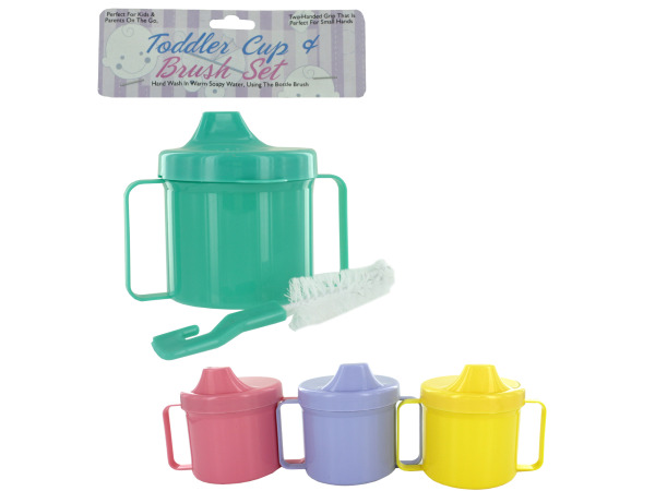 Toddler cup with brush
