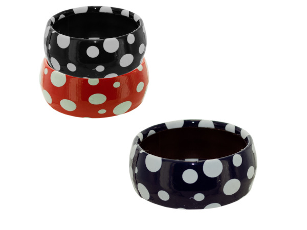 fashion bracelet assorted colors with dots