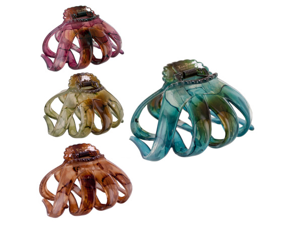hair jaw clip large earthtone assorted colors