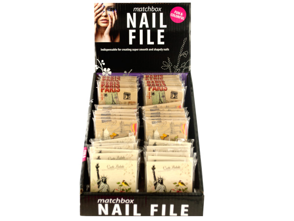 Nail File Matchbook Display