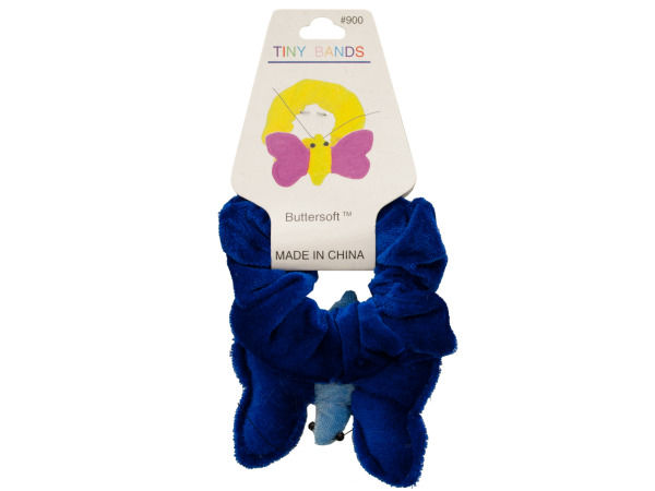 Plush Velour Butterfly Hair Twister