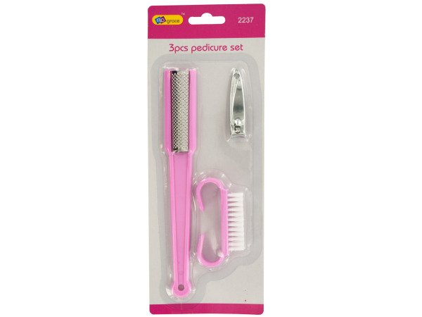 Pedicure Set with File, Clipper and Brush