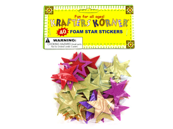 Foam star stickers