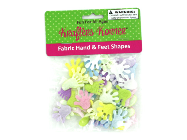 Fabric hand and feet shapes for crafting