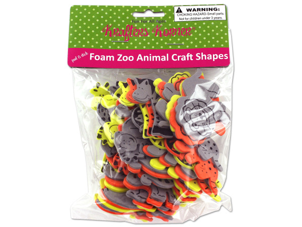 Foam Zoo Animal Craft Sticker Shapes