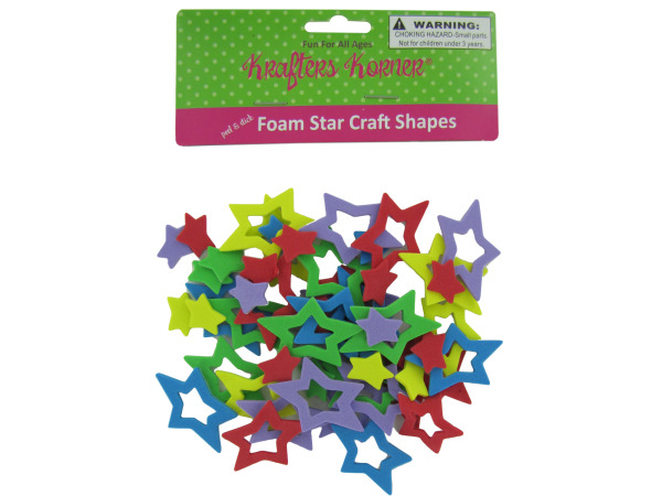 Foam star craft shapes