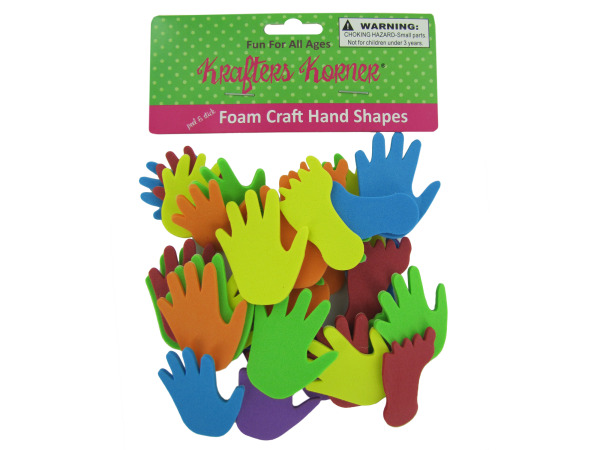 Foam Hand and Feet Craft Sticker Shapes