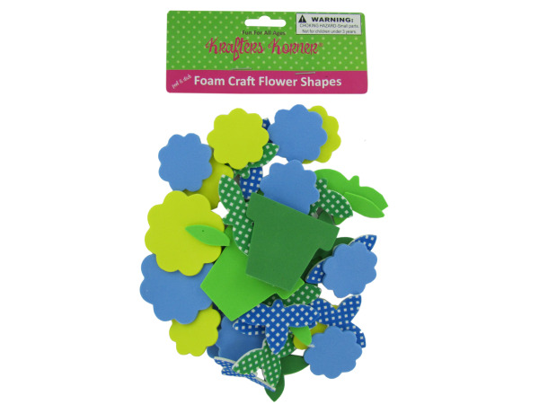 Foam Flower Craft Sticker Shapes