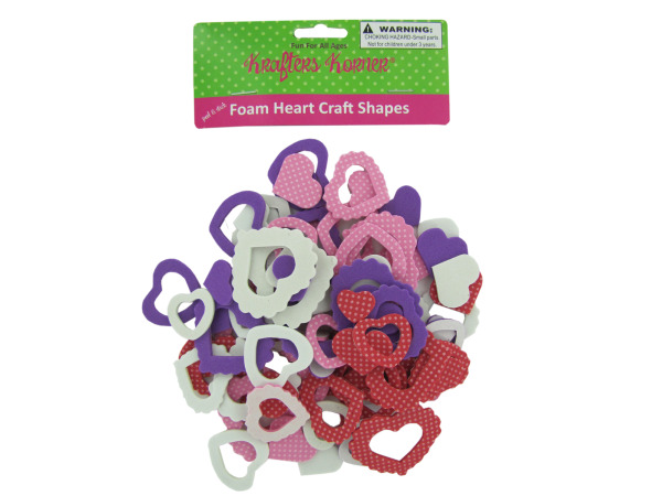 Foam heart craft shapes
