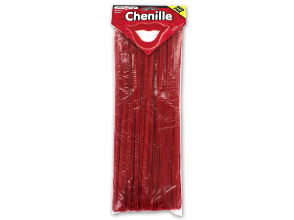 100 pack 6mm red chenille craft stems
