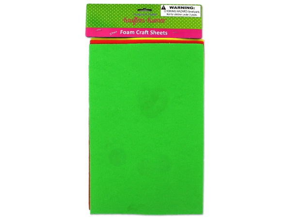 3 Pack Foam Craft Sheets (Assorted Colors)