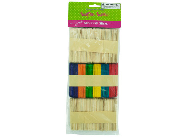 Mini wooden craft sticks, pack of 150
