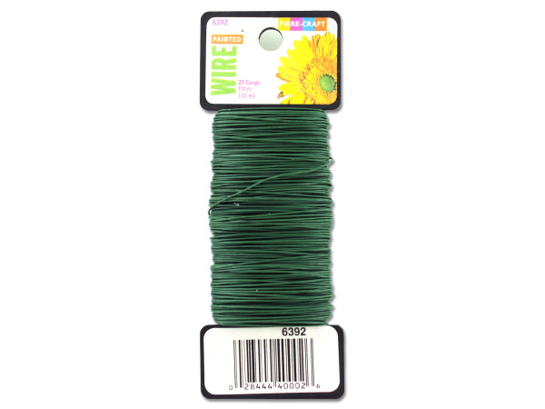 Painted green floral wire, 115 feet