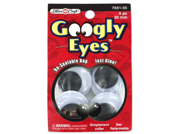 Big googly eyes, pack of 8