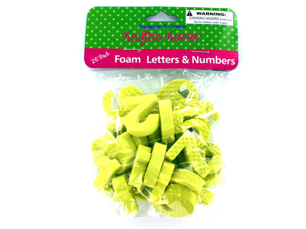 Foam numbers and letters, 26 pieces