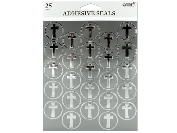 Platinum foil cross adhesive seals