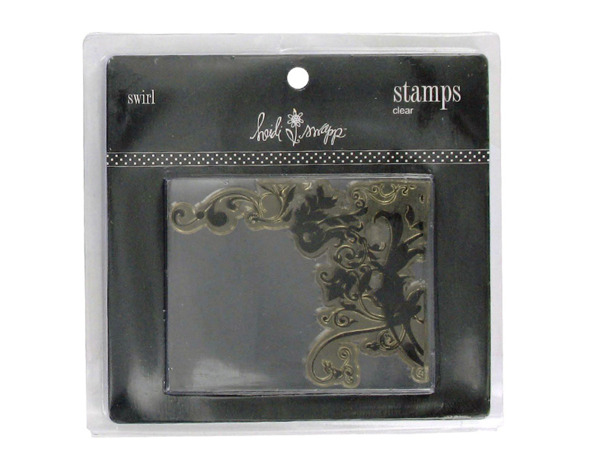 Clear acrylic stamp, swirl design