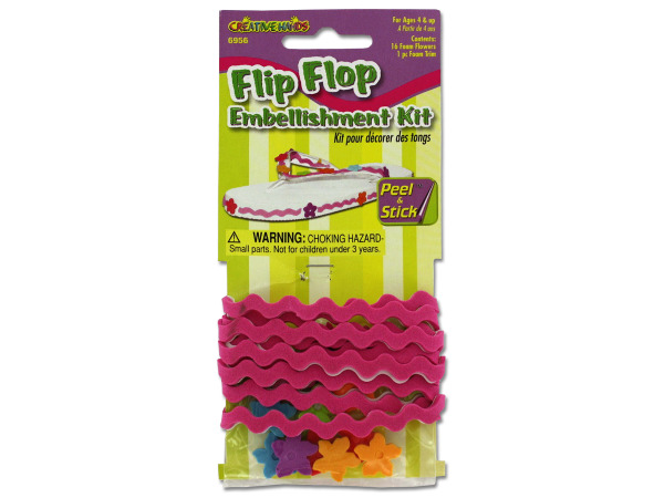 Flip flop embellishment kit