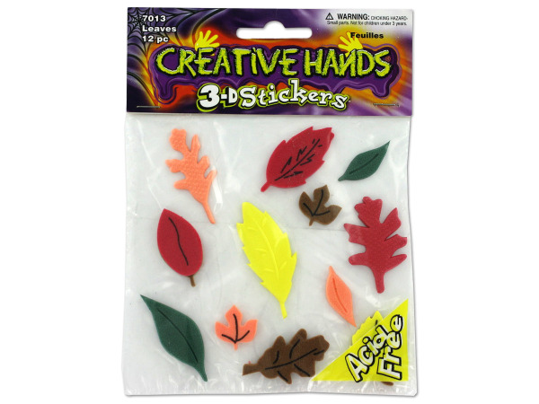 3-D Foam leaf stickers